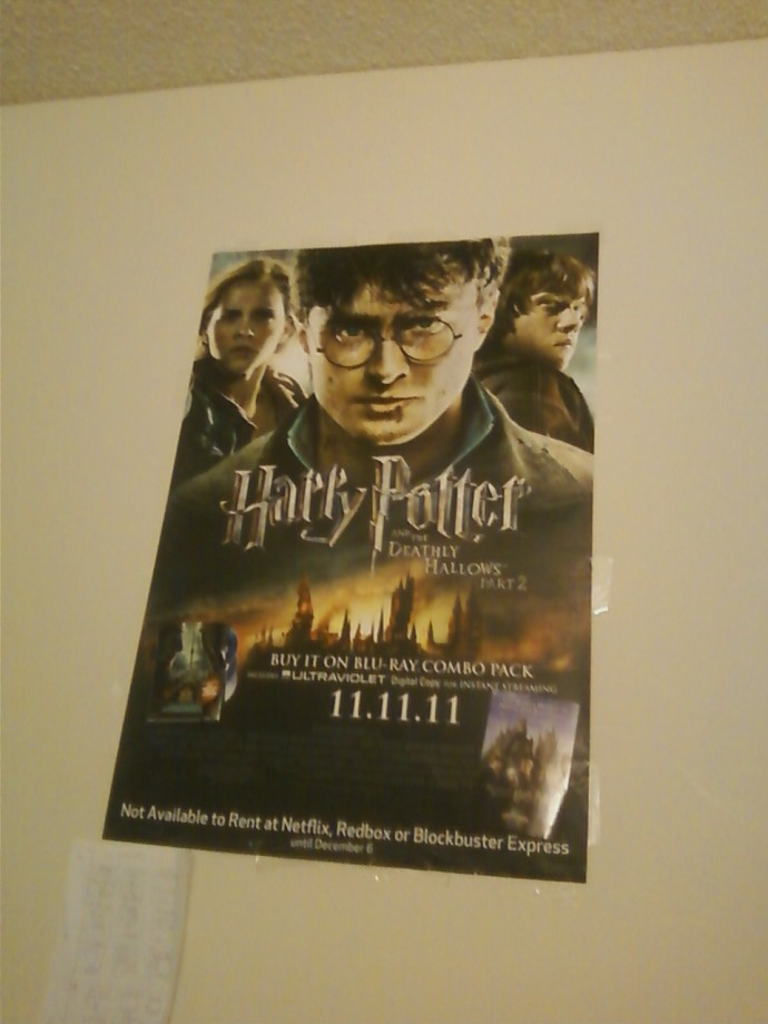 The Harry Potter poster in my bedroom!!!!